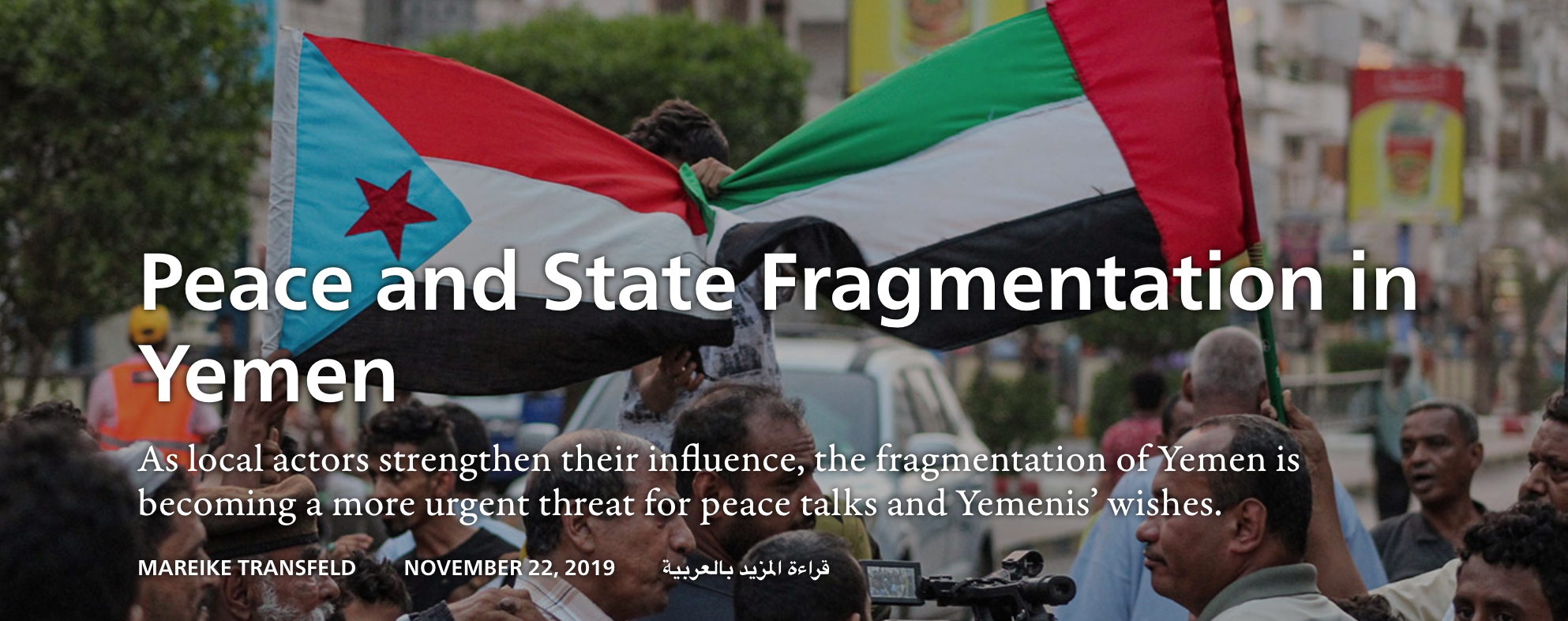 YPC Researcher Publishes in Sada Journal: Yemen's Fragmented State