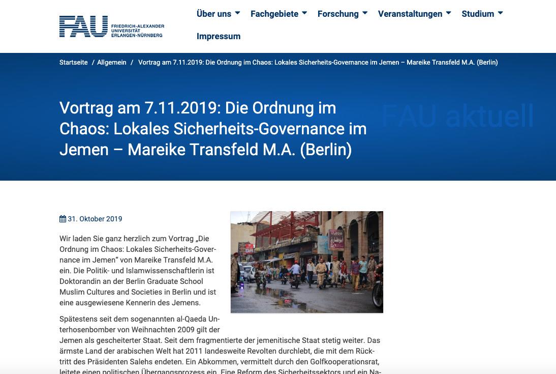 YPC Researcher Speaks at University of Erlangen